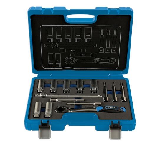 Trusa de scule pentru amortizoare , 14 piese Laser Tools