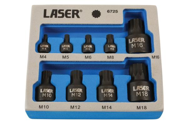 Set biti cu tubulare, profil subtire Laser Tools