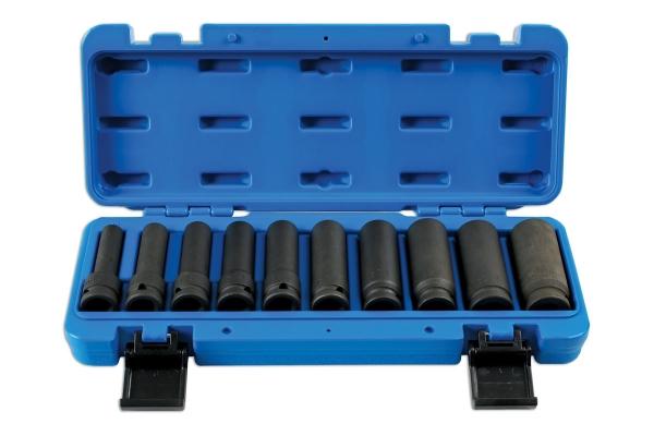 Set tubulare de impact , bihexagonale, lungi , 10piese Laser Tools