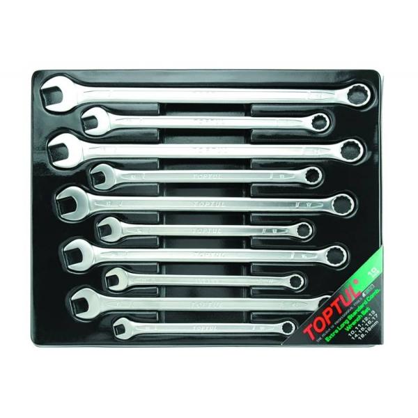Set 10 chei combinate fixe inelare cotite lungi 10-19mm, Toptul