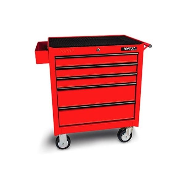 Dulap pentru scule standard 5 sertare rosu 687x459x840mm
