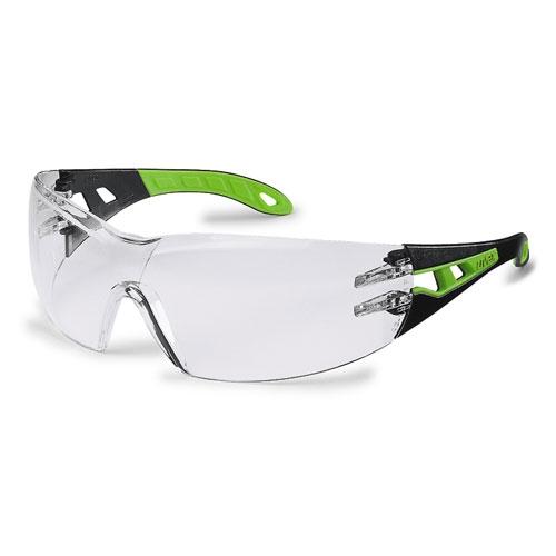 Ochelari protectie UVEX lentile transparente acoperire HC-AF negru verde