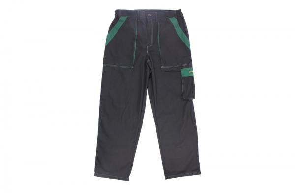 Pantaloni lucru negru verde marimea L 260g m2