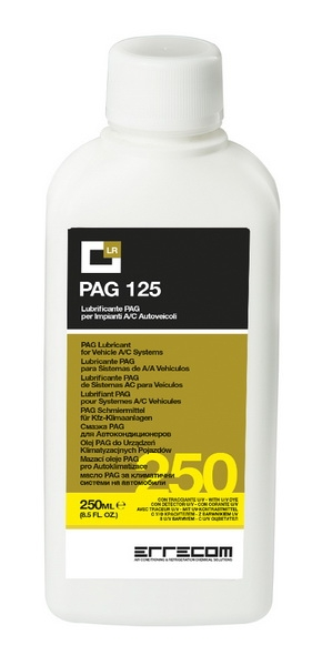 Ulei refrigerant PAG OIL UV 125 250ml cu substanta contrast UV sistem aer conditionat auto Errecom