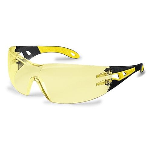 Ochelari protectie UVEX lentile transparente anticondens acoperire HC-AF negru galben