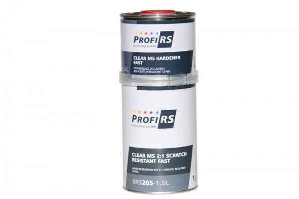 Lac transparent Clearcoat 2: 1 MS Filler rapid 1,5 litri cu intaritor