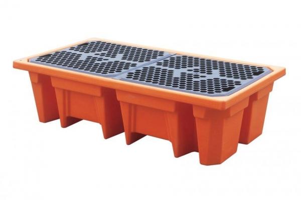 Suport scurgere 2 butoaie 240 litri 140x760x420 mm portocaliu