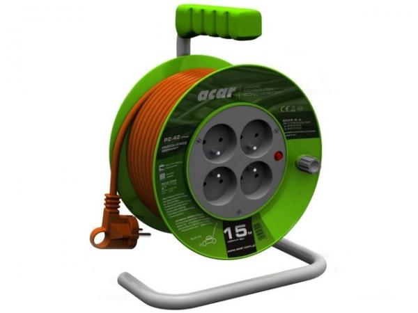 Prelungitor curent 230V tip bobina 15 m cu 4 prize