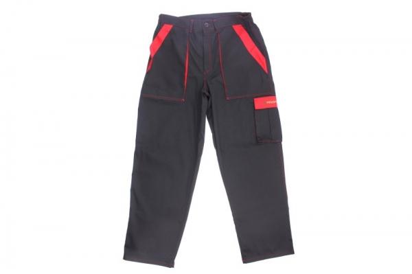 Pantaloni de lucru negru rosu marimea L 260g m2