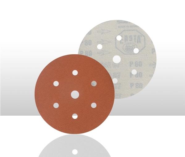 Disc abraziv 542 6 gauri Velcro f150mm P120 100 bucati