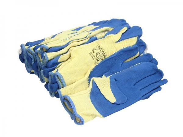 Set 12 perechi manusi tricotate acoperite cu cauciuc rezistente uzura marimea XL