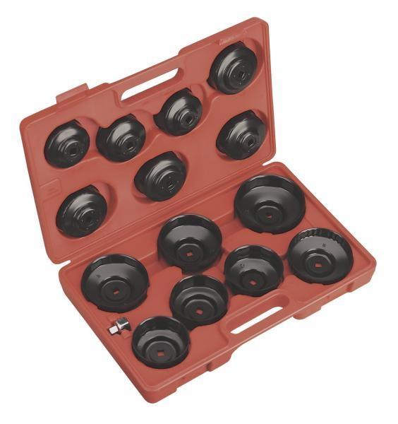 Set 15 piese diferite marimi cheie filtru ulei