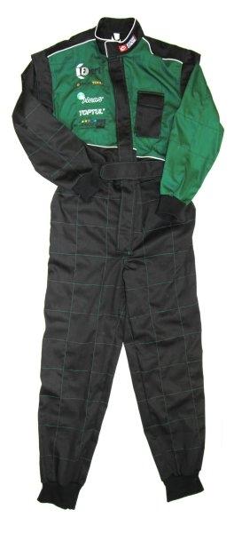 Salopeta lucru combinezon verde negru marimea XL
