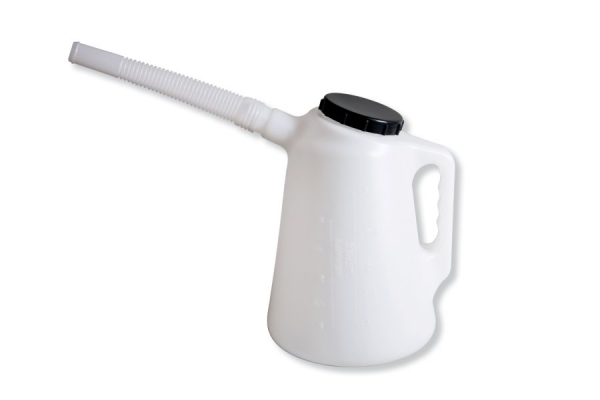 Recipient lichide cu varf flexibil si capac 2 litri