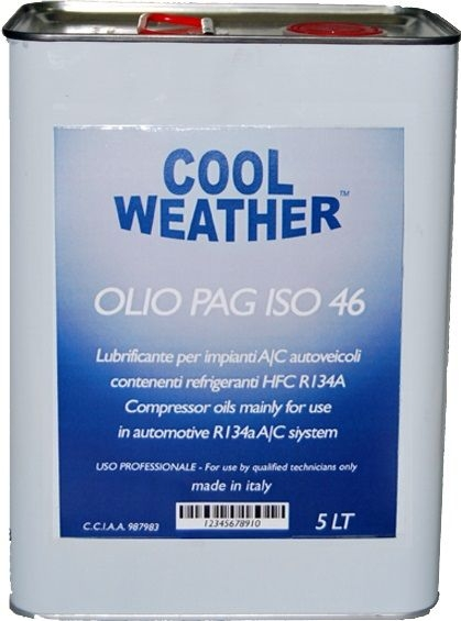 Ulei refrigerant PAG 46 OIL 5 litri sistem climatizare aer conditionat Magneti Marelli