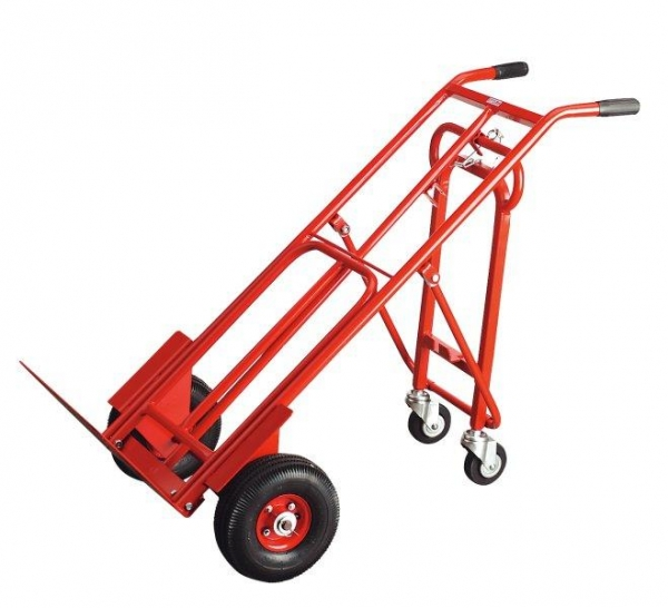 Carucior transportator pliant 3 in 1 250kg roti pneumatice 250x90mm
