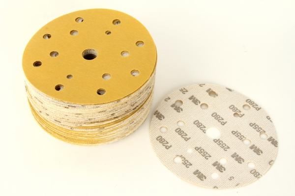 Disc abraziv Hookit P280 galben 100 bucati
