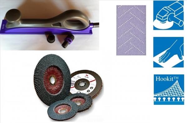 Kit Coli abrazive Hookit Purple Multihole+ Bloc 70x396mm rigid 3M