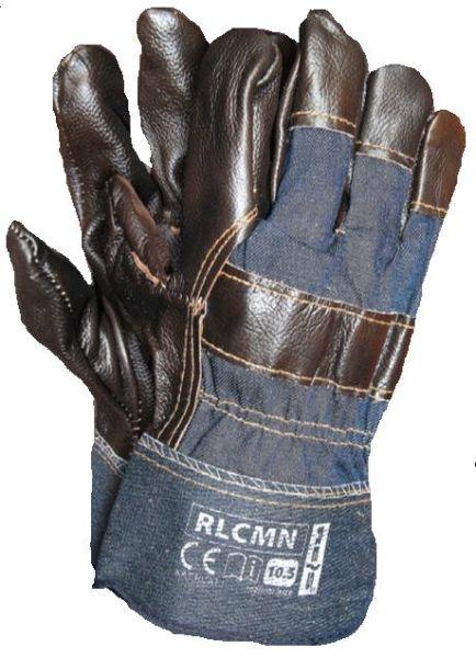 Set 12 perechi manusi protectie piele captusite interior manseta denim constructii industria grea mecanica