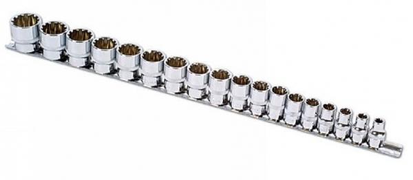 Alldrive Set tubulare 3 8, pe sina , 18 piese Laser Tools
