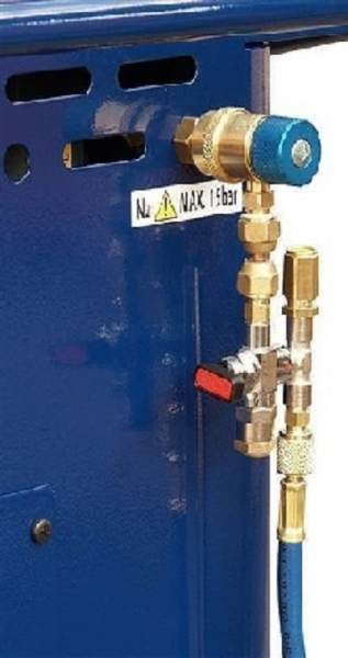Cuplaj siguranta butelii azot aparat clima Next sistem climatizare aer conditionat Magneti Marelli
