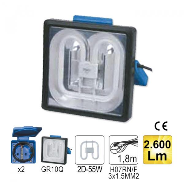 Lampa control patrata 55W 2600Lm