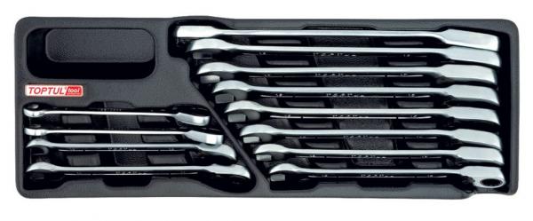 Set chei cu clichet Ratchet 8-19mm 12 piese