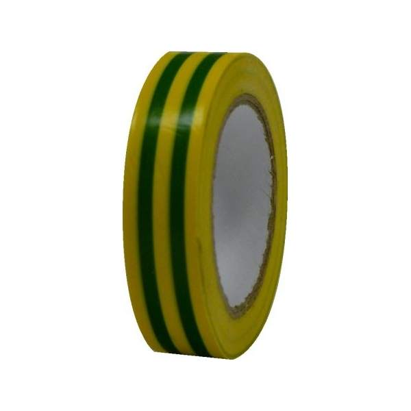 Pachet 10 bucati banda izolatoare PVC galben verde