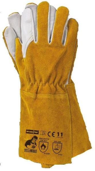 Set 12 perechi manusi protectie sudura piele lungime 35cm galbene