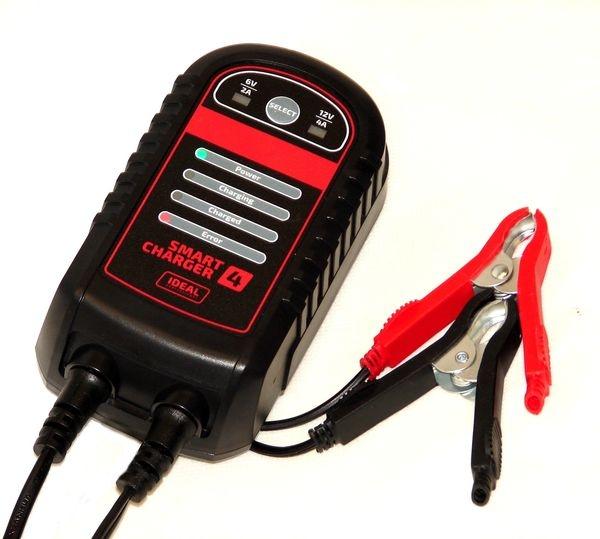 Redresor curent incarcator acumulator Ideal 2 4A 6 12V baterii acid AGM Gel
