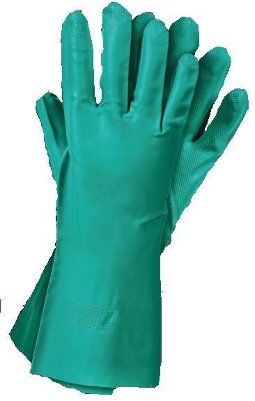 Set 12 manusi protectie marimea XL lungi de cauciuc nitrilic rezistente nitro perfecte curatare pieselor si pistoalelor de vopsit
