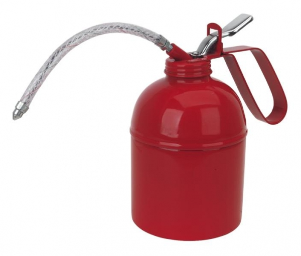 Pompa manuala Gresor metal cu furtun flexibil 500 ml