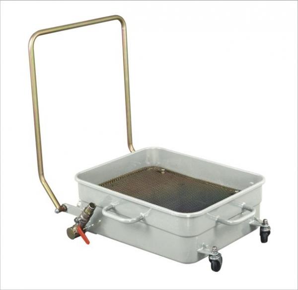 Recipient recuperator colector ulei uzat cu 4 roti 65 litri