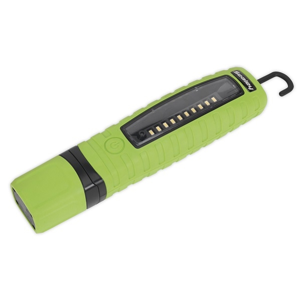 Lampa service LED 3.7V micro USB 3 10 diode LED unghi 120 grade galbena