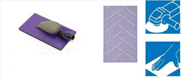 Kit Coli abrazive Hookit Purple Multihole Bloc 115x225mm 3M