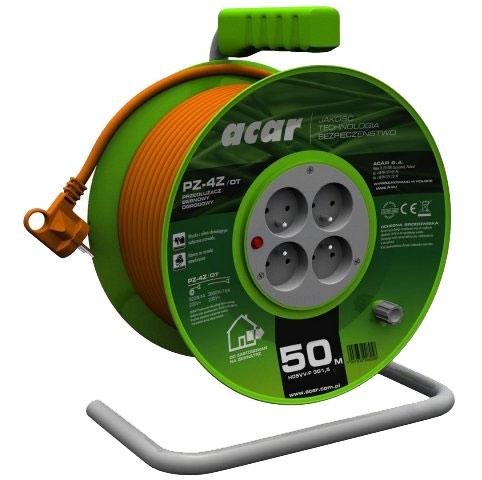 Prelungitor curent 230V tip bobina 50m 4 prize