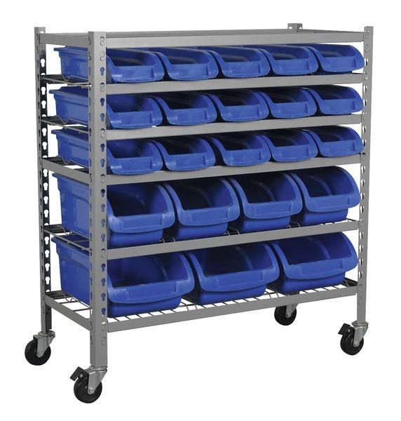 Recipient depozitare mobil container 22 cutii