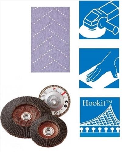 Kit Coli abrazive Hookit Purple Multihole Bloc 70x396mm flexibil reglabil 3M